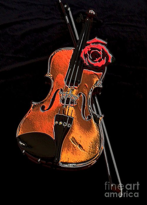 Photo Greeting Card featuring the photograph Violin Extreme by Marsha Heiken