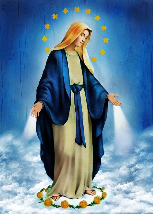 Virgin Mary Greeting Card featuring the photograph Virgen Milagrosa by Bibi Romer