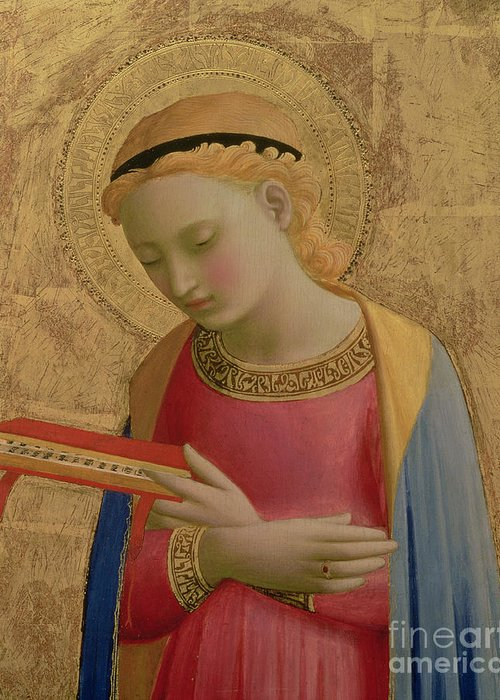 Virgin Annunciate Greeting Card featuring the painting Virgin Annunciate by Fra Angelico