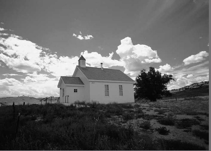 Church Greeting Card featuring the photograph Virginia Dale Colorado by Susan Chandler
