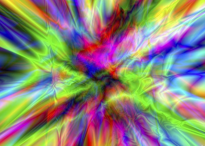 Colors Greeting Card featuring the digital art Vision 1 by Jacques Raffin