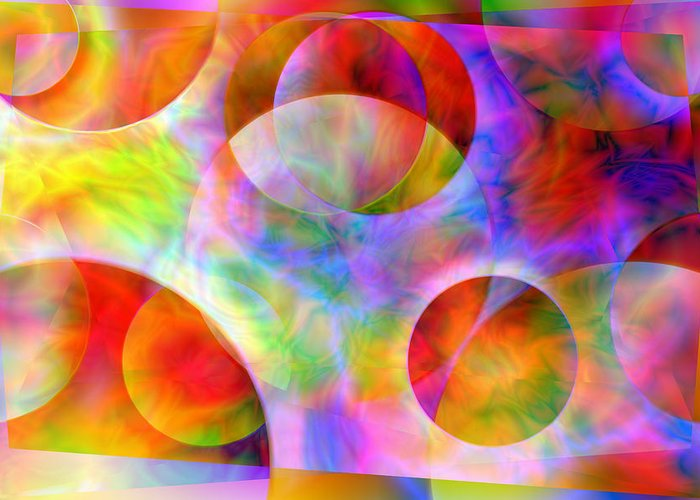 Colors Greeting Card featuring the digital art Vision 29 by Jacques Raffin
