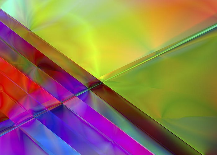 Colors Greeting Card featuring the digital art Vision 3 by Jacques Raffin