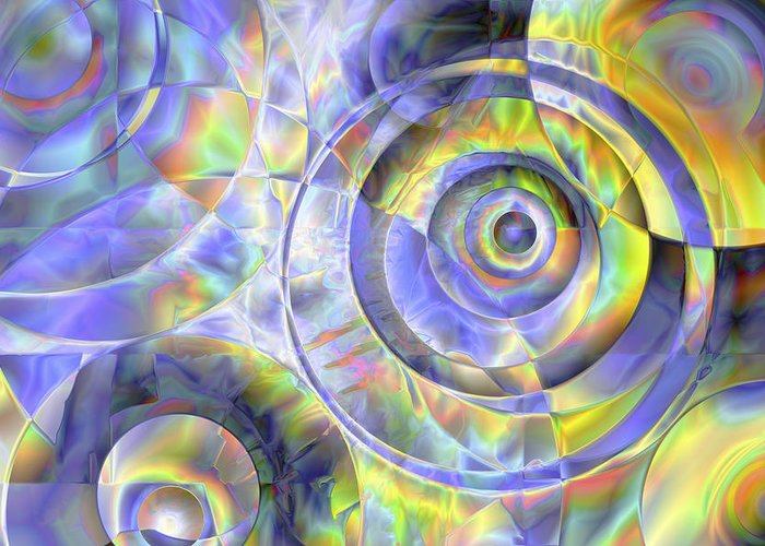 Colors Greeting Card featuring the digital art Vision 37 by Jacques Raffin