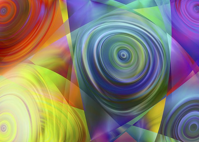 Colors Greeting Card featuring the digital art Vision 39 by Jacques Raffin