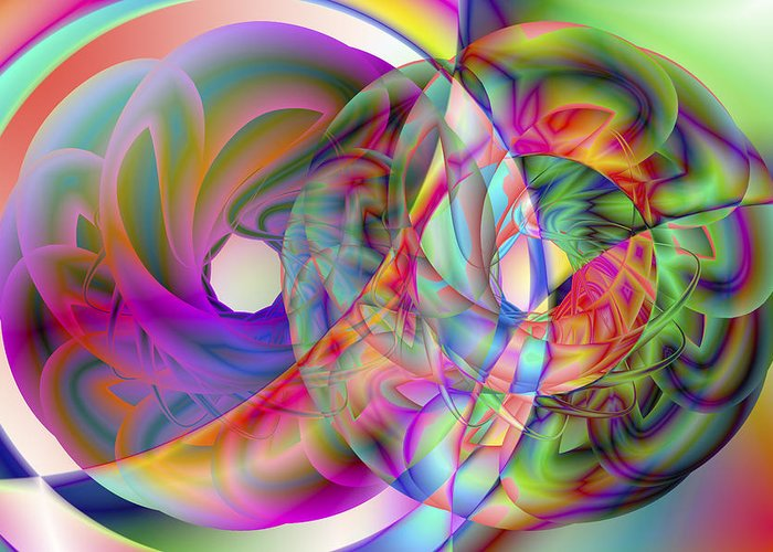 Crazy Greeting Card featuring the digital art Vision 41 by Jacques Raffin
