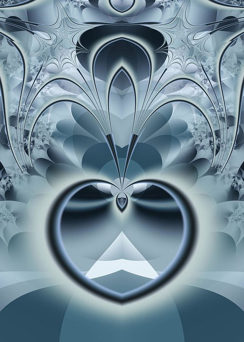 Fractal Greeting Card featuring the digital art Vision by Frederic Durville