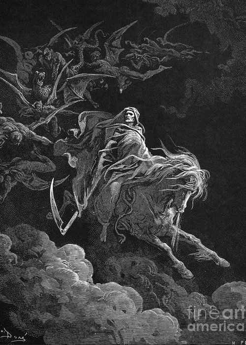 Allegory Greeting Card featuring the photograph Vision Of Death by Granger