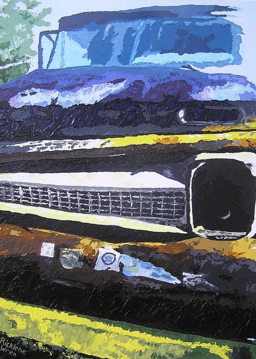 Truck Greeting Card featuring the painting Visions Of Alpine by Ricklene Wren