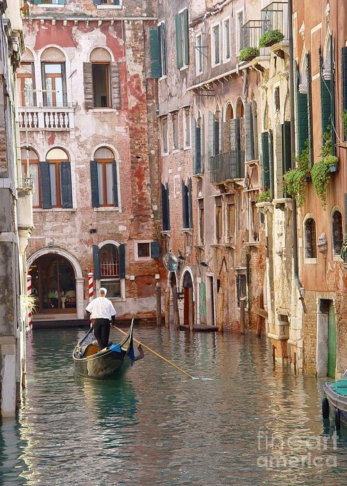 Greeting Card featuring the photograph Visions of Venice 2. by Nancy Bradley
