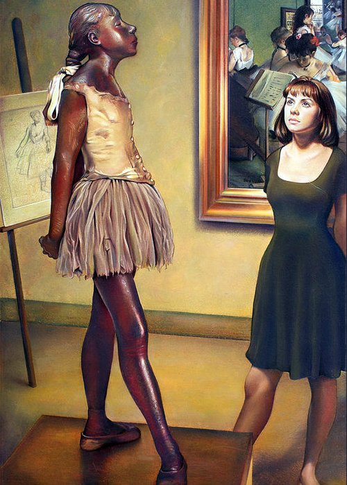Edgar Degas Greeting Card featuring the pastel Visit To The Museum by Patrick Anthony Pierson