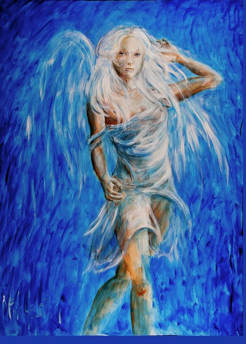 Angel Greeting Card featuring the painting Viva Forever by Nik Helbig