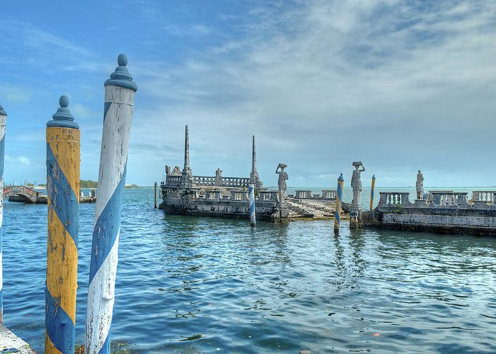 Water Greeting Card featuring the photograph Vizcaya 2 by Jim Cole