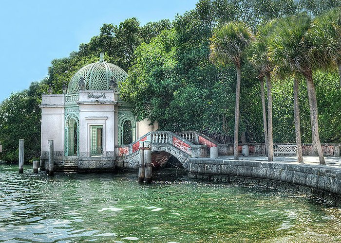 Vizcaya Greeting Card featuring the photograph Vizcaya Bridge by Jim Cole
