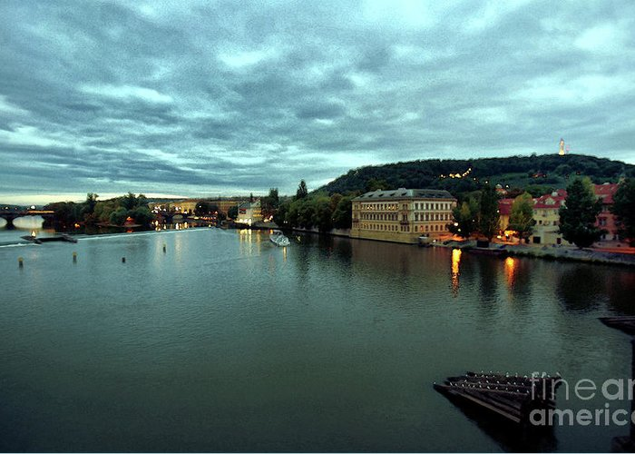 Vltava Greeting Card featuring the photograph Vltava View 2 by Madeline Ellis