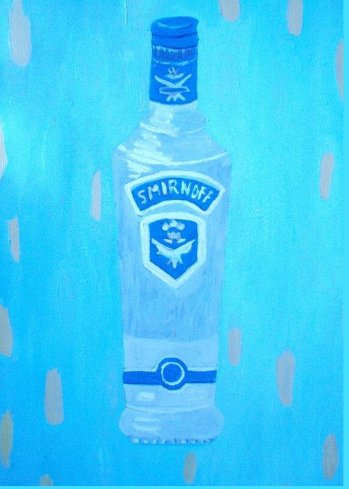 Pop Art Greeting Card featuring the painting Vodka by Patrice Tullai