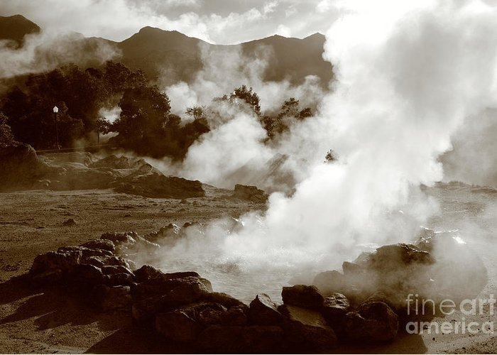 Azores Greeting Card featuring the photograph Volcanic Steam by Gaspar Avila