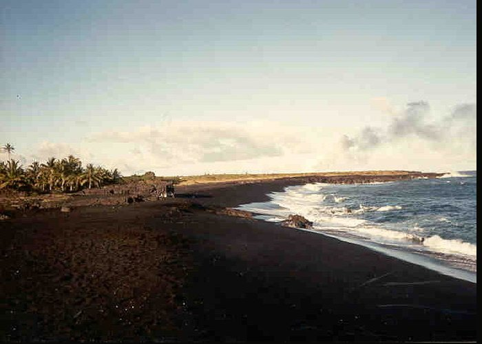 Hawaii Greeting Card featuring the photograph Volcano Black Sand Beach by Our Place Of Joy
