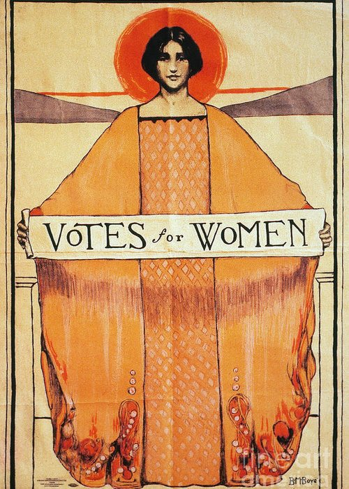 1911 Greeting Card featuring the photograph Votes For Women, 1911 by Granger
