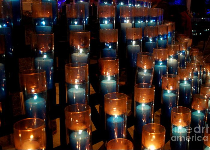 Greeting Card featuring the photograph Votive Prayers by Carol Christopher