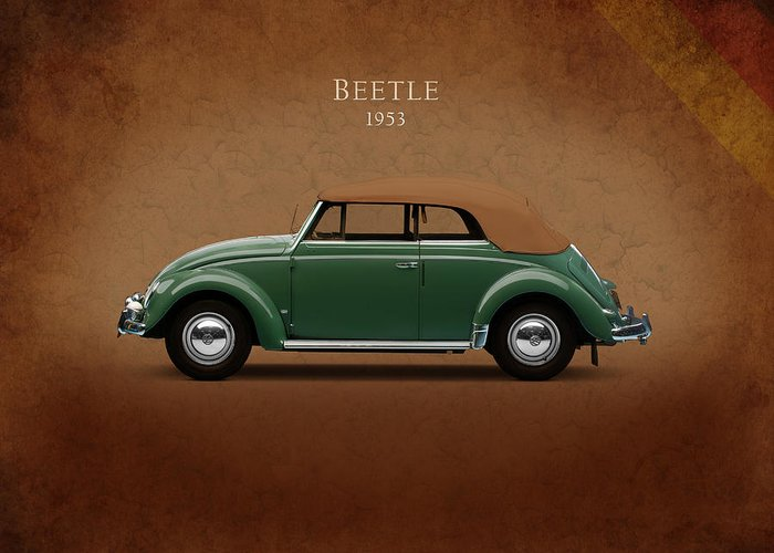 Vw Beetle Greeting Card featuring the photograph Vw Beetle 1953 by Mark Rogan