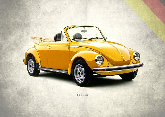 Vw Beetle Greeting Card featuring the photograph Vw Beetle 1972 by Mark Rogan