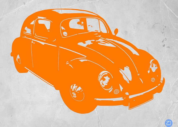 Greeting Card featuring the photograph Vw Beetle Orange by Naxart Studio
