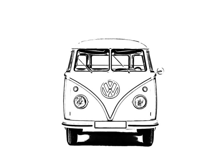 Vw Greeting Card featuring the photograph Bus by Edward Fielding