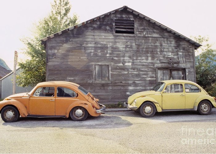 Vw Greeting Card featuring the photograph Vw's In Skagway Alaska by Bruce Stanfield