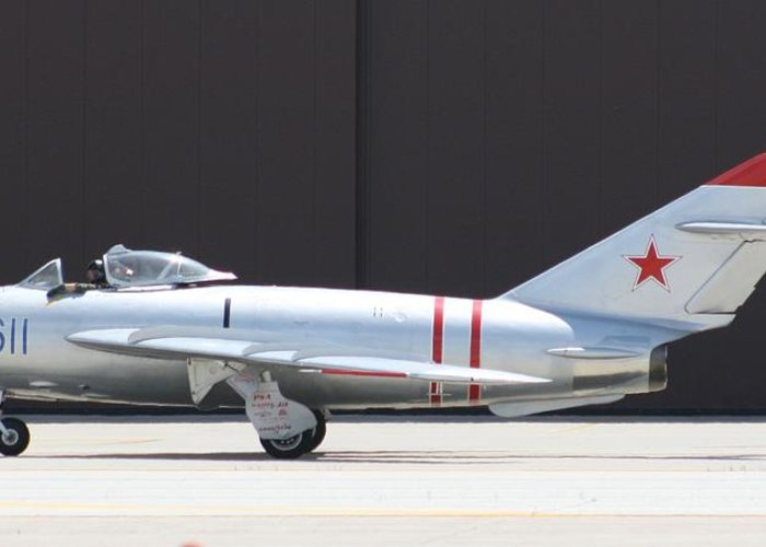 Airplane Greeting Card featuring the photograph Wafb 09 Mig 17 Russian by David Dunham