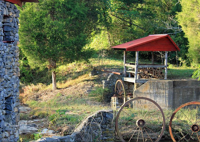 Shed Greeting Card featuring the photograph Wagon Shed by Suzanne Gaff