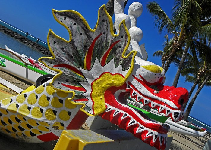 Dragon Greeting Card featuring the photograph Waikiki Dragon by Elizabeth Hoskinson