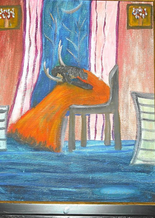 Abstract Greeting Card featuring the painting Wailing Woman by Betty Abrams