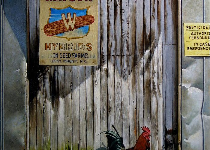 Doug Strickland Greeting Card featuring the painting Waiting For Watson 2 by Doug Strickland
