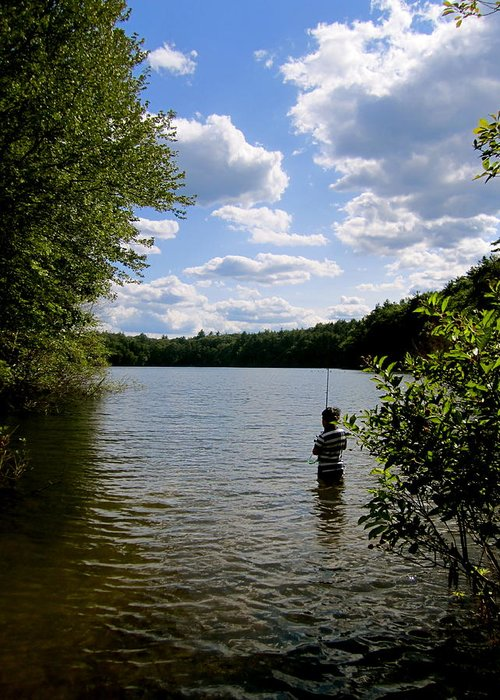 Kid Greeting Card featuring the photograph Walden Pond by Rae Breaux