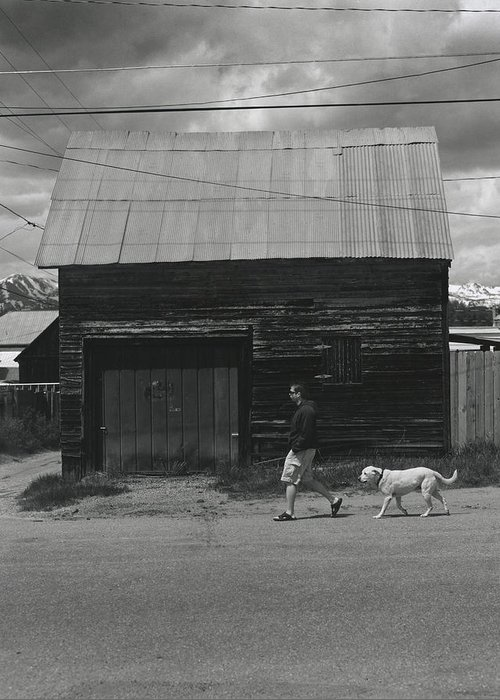Walking Greeting Card featuring the photograph Walking In Leadville by Jim Furrer