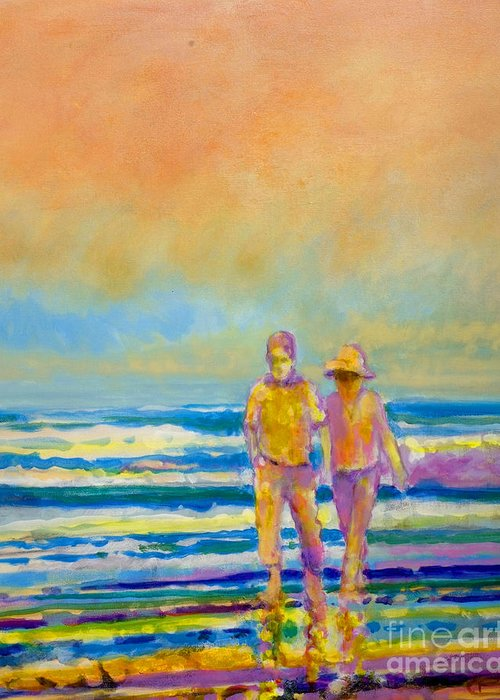 Lovers Greeting Card featuring the painting Walking Together by Kip Decker