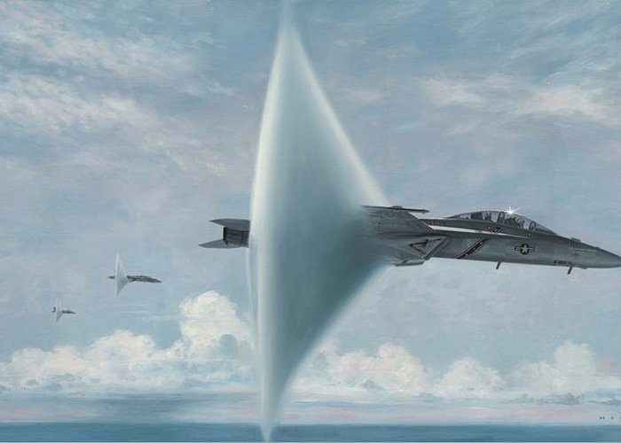 Super Hornet Greeting Card featuring the painting Wall Of Sound Redcocks Style by Wade Meyers