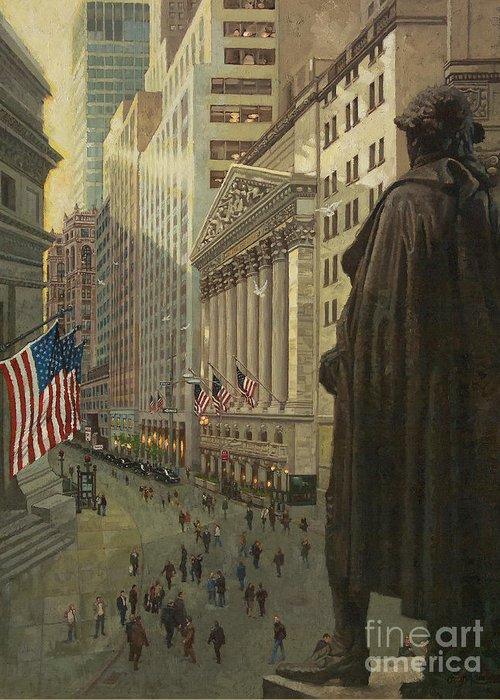 New York Stock Exchange Greeting Cards