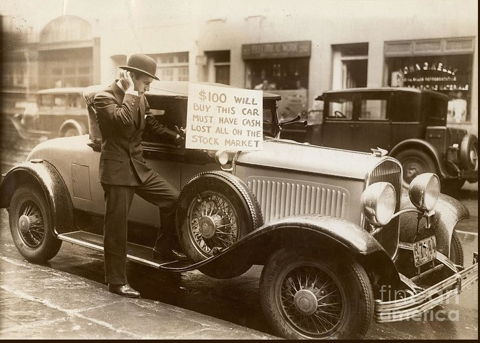 1929 Greeting Card featuring the photograph Wall Street Crash, 1929 by Granger