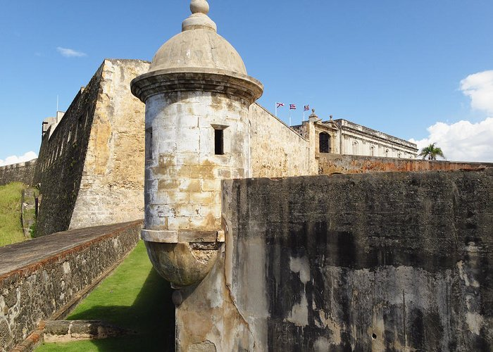 Architecture Greeting Card featuring the photograph Walls Of San Cristobal Fort San Juan Puerto Rico by George Oze