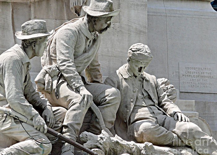 Statue Greeting Card featuring the photograph War Has Always Been Hell by Mark Grayden