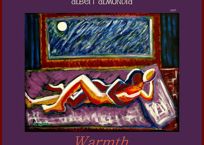 Relationships Greeting Card featuring the painting Warmth by Albert Almondia
