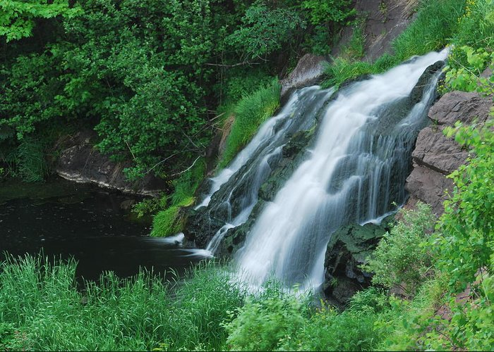 Warner Falls Greeting Card featuring the photograph Warner Falls by Michael Peychich