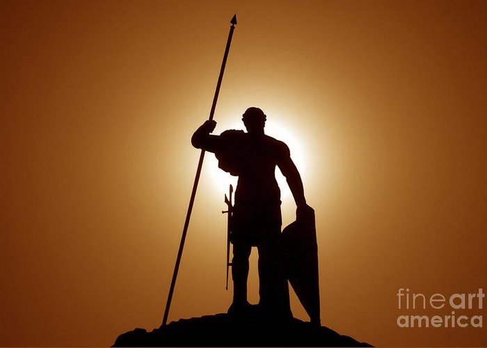 Warrior Greeting Card featuring the photograph Warrior by David Lee Thompson