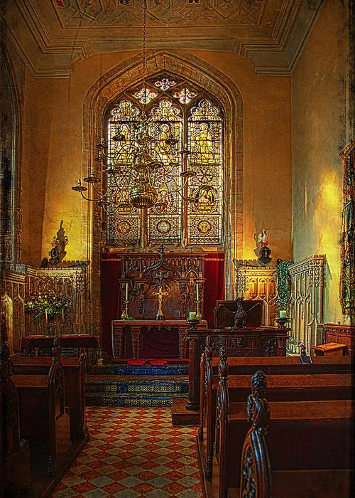 Altar Greeting Card featuring the photograph Warwick Castle Chapel by Chris Lord