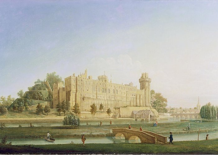 Xyc234977 Greeting Card featuring the photograph Warwick Castle by Francis Harding