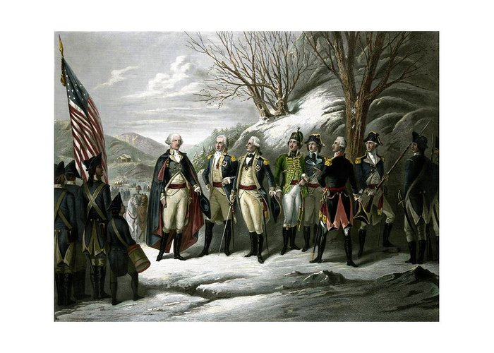 Continental Army Drawings Greeting Cards
