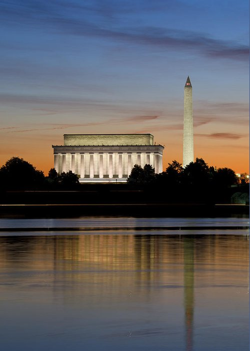 washington D.c. Greeting Card featuring the photograph Washington Dc From The Potomac River by Brendan Reals