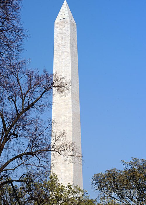 Clay Greeting Card featuring the photograph Washington Monument by Clayton Bruster